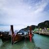 タイにモンスーンが来てるやん、なんでクラビ・ピピ島も雨やった。けど、船がひっくり返らなくて良かった!