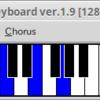 Linuxで音を鳴らす(ソフトシンセ+仮想MIDIキーボード)
