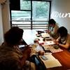 レッスンレポート)9/7 本川町教室 好きな物をそれぞれ編んでいます。