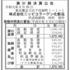 株式会社ニッピコラーゲン化粧品 第31期決算公告
