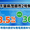 【新商品販売開始】FIT 36円/kWh(税抜)、年間利回り8.49%!「千葉県茂原市2号発電所」