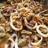 イカと豚の中華炒め