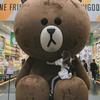 LINEフレンズ フラッグシップストアにいるデカい熊のブラウンはインスタ映えだぞっ! #brownbear