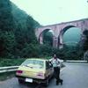 碓氷峠の眼鏡橋と斬新なミラージュ。