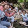 インスタライブ 陣ケ下渓谷公園に来ています!