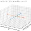 Pythonで直線同士の最接近距離と最接近点を知る