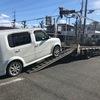 本庄市から放置車両をレッカー車で廃車の引き取りしました。