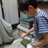九龍は夏休みの自由研究の作品を完成させました。