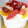 誕生日は爽やかなケーキでお祝い