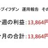 2018年10月第2周目(10/8~10/12)の運用利益報告 第16回【ループイフダン不労所得】