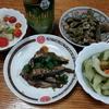 小羽鰯と胡瓜の酢漬けとゴーヤチャンプル