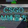 【CSGO】AIM練習方法(初心者向け)