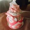 友人からのサプライズおむつケーキ(Nappy Cake)