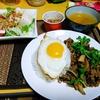 【今日の食卓】カオガパオ(ホーリーバジルと鶏挽肉の炒めもの)