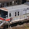 長野電鉄3000系の先頭部が赤帯に