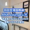 羽田空港国際線ANAラウンジ利用レポ〜プレエコ以上で入室可能〜2018年4月訪問
