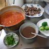 幸運な病のレシピ( 1928 )夜:ローストポーク(失敗)、トマトスープ(ガルバンゾ+ポテト)
