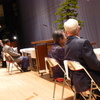 9日、福島市中央地区敬老会、参加者はまばら。午後は市民連合の街頭演説会