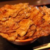 豚肉の花が咲く~♪ 特上豚丼大盛り @ ぶたいち 人形町店