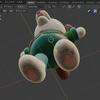 犬のおまわりさんの3Dモデルを作ろう!(blender~データ転送編)25