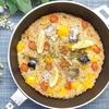 フライパン一つで簡単!鯖缶とトマトのパエリアの作り方・レシピ