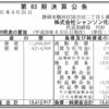 株式会社シャンソン化粧品 第83期決算公告