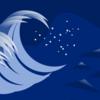 EXCELで絵を描いた「嵐の夜に」