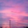 紫っぽい空。