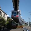 東京モノレールの高架を追ってどこまでも行く、自転車で