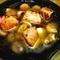 料理のおいしそうな写真は難しい。大好物のアヒージョはにんにく無し。