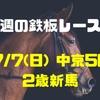 【今週の鉄板レース②】7/7(日)  中京5R  2歳新馬  〜リーマンブロガーの小遣い稼ぎ大作戦〜