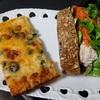 ブレドール の シーフードピザ&人参サラダサンド