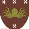 タコの紋章、斑点ですよ。