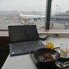 JALのサクララウンジ(成田空港)のビジネスラウンジで使うThinkPad X1 Carbon
