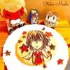 【ペルソナ5】明智のパンケーキアート【クッキングシートで簡単パンケーキアート】