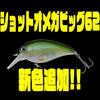 【ノリーズ】ストラクチャー回避抜群のクランクベイト「ショットオメガビッグ62」に新色追加!