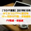 【ブログ運営】2019年10月のPV数・収益報告 PV数減・収益減