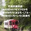 マクセル号・ちくまる号ブルー・へいちく浪漫号 平成筑豊鉄道