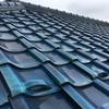 築35年の日本瓦(青緑)はお父様がお気に入りの瓦だったそうです。