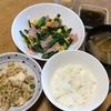 マーボー豆腐と卵炒め