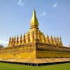ビエンチャンの偉大なる仏塔と呼ばれれる、ラオスのシンボル「タート・ルアン」
