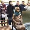 強制撤去した釜山の少女像、再設置…一転し容認