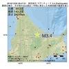 2016年12月30日 06時47分 紋別地方でM3.4の地震