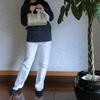 【ユニクロ スリムストレートハイライズジーンズ】足長効果、美脚効果ありのほぼ綿のジーンズ♡体の線も拾わず履きやすい!