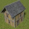 Blender 262日目。「中世風の家のモデリング」その3(終)。