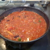 幸運な病のレシピ( 2059 )夜:赤インゲン豆のトマトソース、バンバンジー