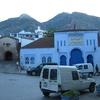 モロッコ1人旅行記 青の街 シェフシャウエン  メディナの外周をぐるっと半周まわってみました~