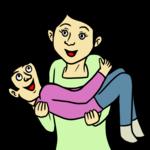男性をお姫様抱っこする女性 のイラスト