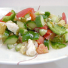 刻み野菜のサラダ & エビのガーリックオイル煮 ~ケンテツ