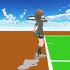 スクエアスタンスにおけるインパクト前後の足の動き (テニス)